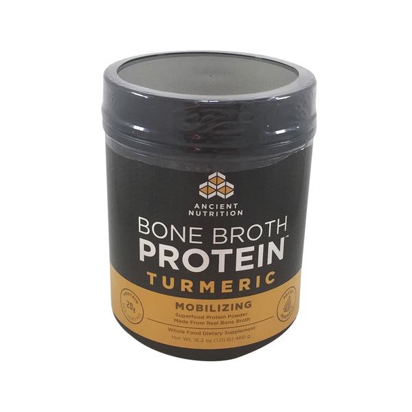 Ancient Nutrition Protein, Bone Broth, Turmeric