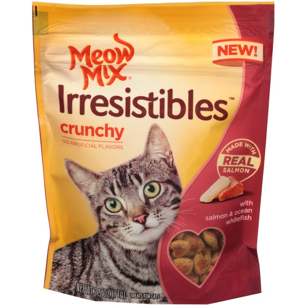 Meow Mix Irresistibles Crunchy Salmon & Ocean Whitefish Cat Treats