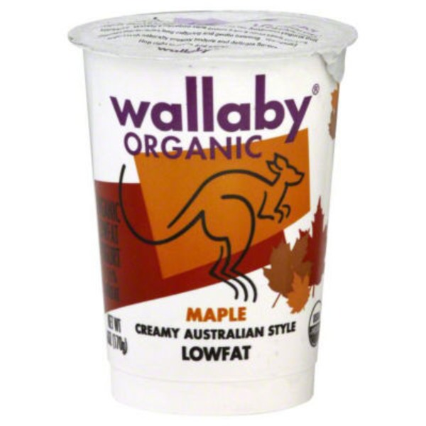 Wallaby Organic Organic Maple Lowfat Yogurt