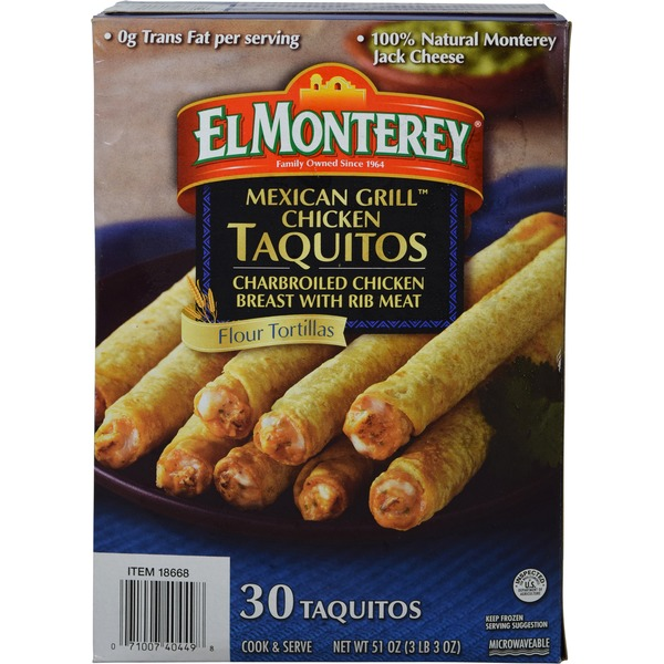 El Monterey Grilled Chicken Taquitos