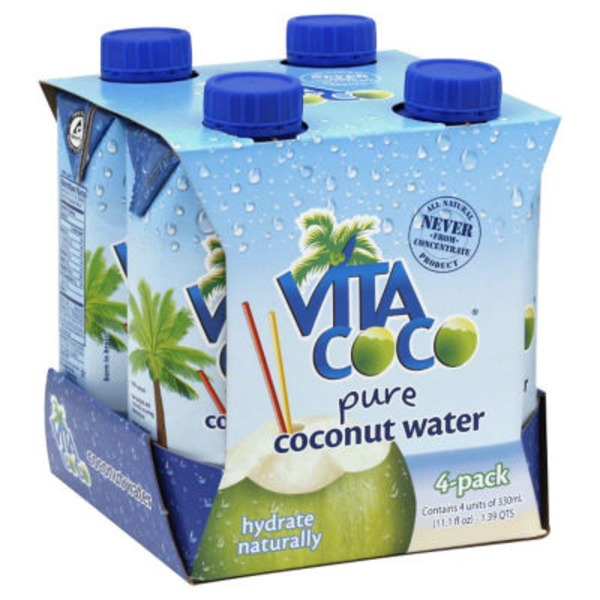 Vita Coco Pure Coconut Water - 4 CT