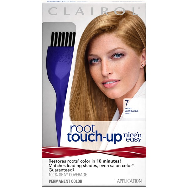 Clairol Root Touch-up Clairol Nice 'n Easy Root Touch-Up, 7 Dark Blonde, Permanent Hair Color, 1 Kit Female Hair Color