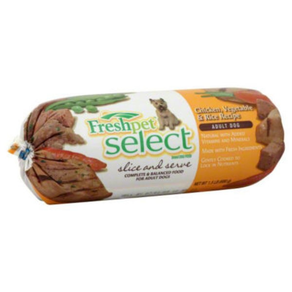 Freshpet Select Chicken, Vegetable & Rice Recipe Slice and Serve Dog Food