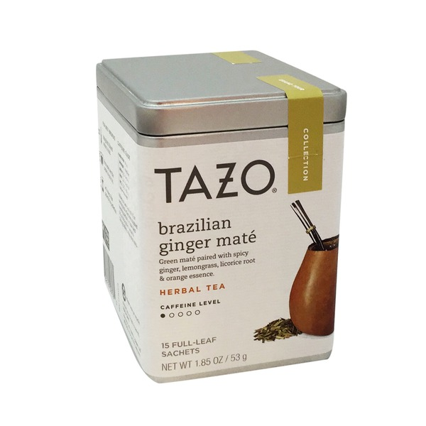 Tazo Tea Brazilian Ginger Mate 15 Count