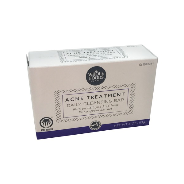 Whole Foods Market Acne Treatment Daily Cleansing Soap Bar
