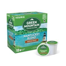 Green Mountain Coffee Nantucket Blend Keurig Single-Serve K-Cup Pods, Medium Roast Coffee, 18 Count