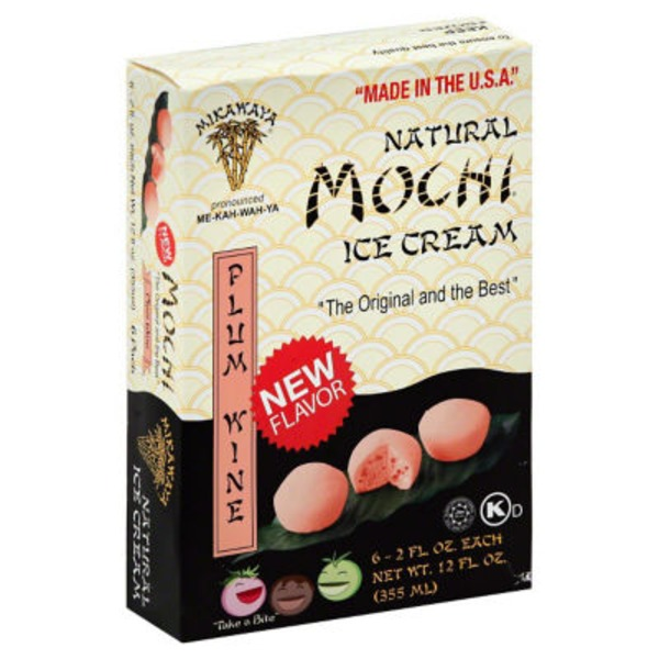 Mochi Ice Cream, Plum Wine
