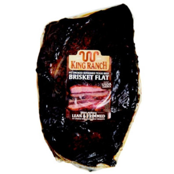 King Ranch Pit Smoked Lean & Trimmed Seasoned Texas Beef Brisket Flat