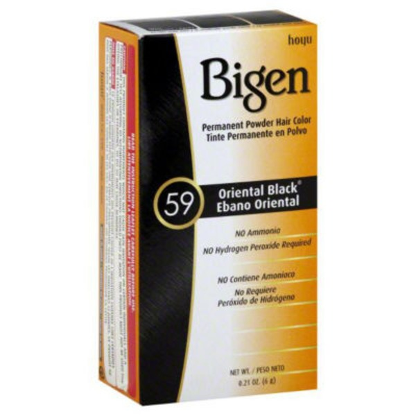 Bigen Permanent Powder Hair Color 59 Oriental Black