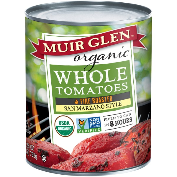 Muir Glen Organic Whole Fire Roasted San Marzano Style Tomatoes