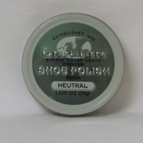Griffin Neutral Shoe Polish Paste Wax
