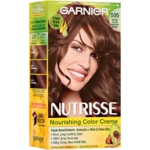 Garnier Nutrisse Nourishing Color Creme Hair Color, 535 Medium Golden Mahogany Brown