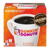 Dunkin' Donuts Original Blend Coffee K-Cup Pods - 16 CT