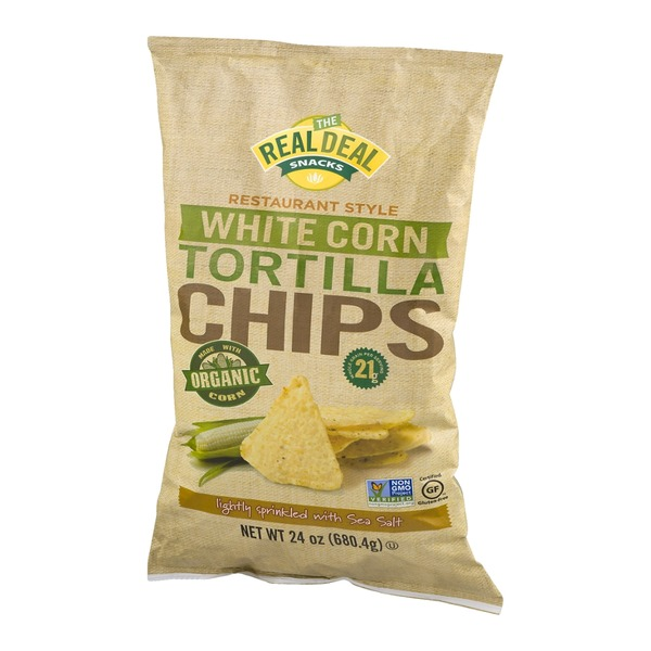 The Real Dill Snacks Restaurant Style White Corn Tortilla Chips