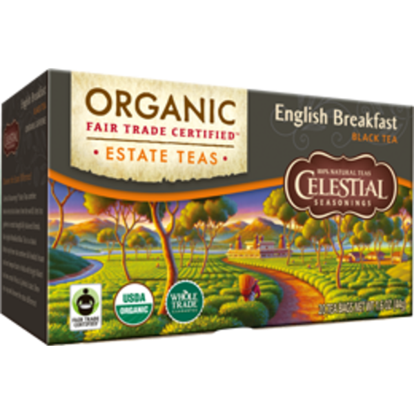 Celestial Seasonings Organic English Breakfast Estate Tea