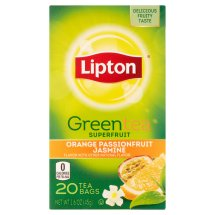 Lipton Green Tea Bags Orange Passionfruit Jasmine 20 ct