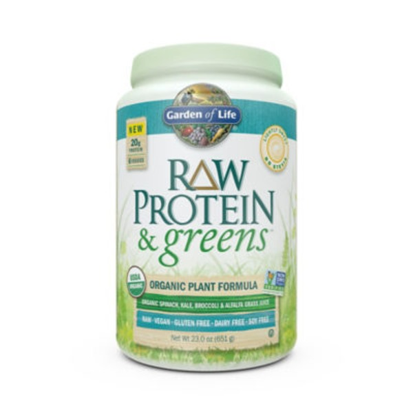 Garden of Life Raw Protein And Greens Lightly Sweetened