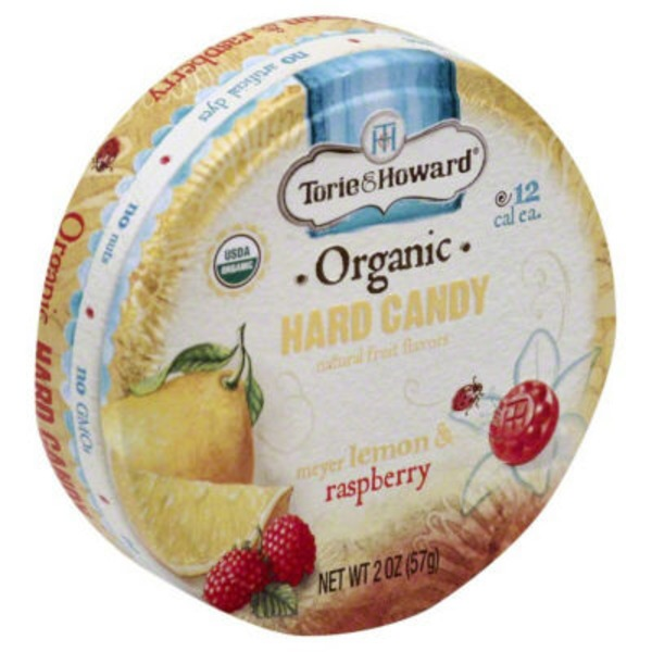 Torie & Howard Organic,Meyer Lemon & Raspberry Hard Candy