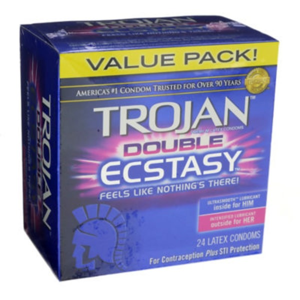 Trojan Double Ecstasy Premium Latex Condoms