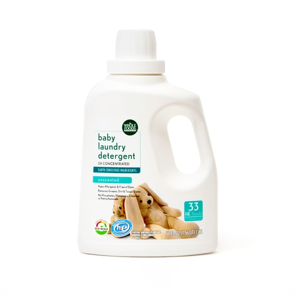 Whole Foods Market Unscented Baby Laundry Detergent 2 X Concentrated