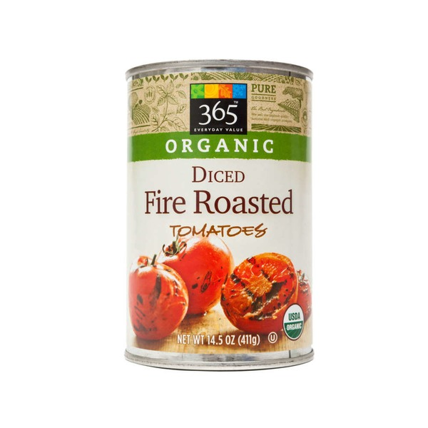 365 Diced Fire Roasted Tomatoes