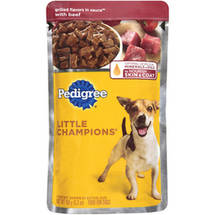 Pedigree Grilled Flavors In Sauce w/Beef For Dogs Little Champions Food