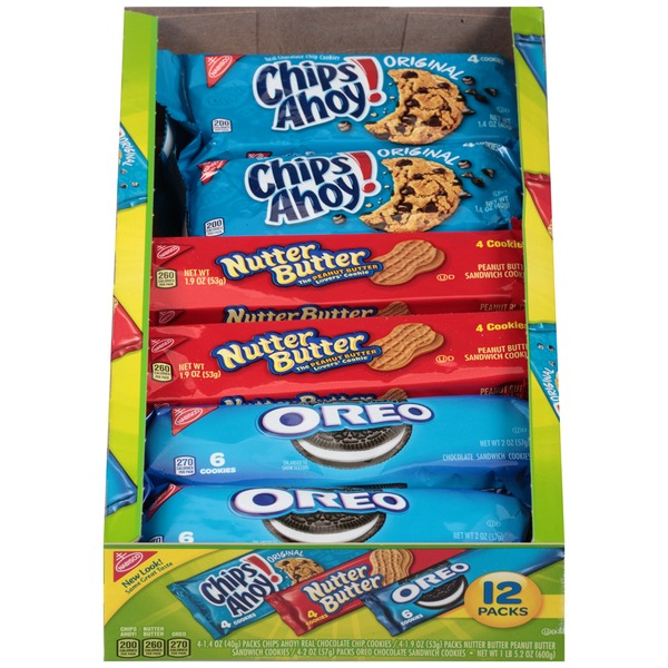 Nabisco Variety Pack Chips Ahoy!/Nutter Butter/Oreo Cookies