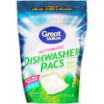 Great Value Automatic Dishwasher Pacs, Fresh Scent, 20 Count