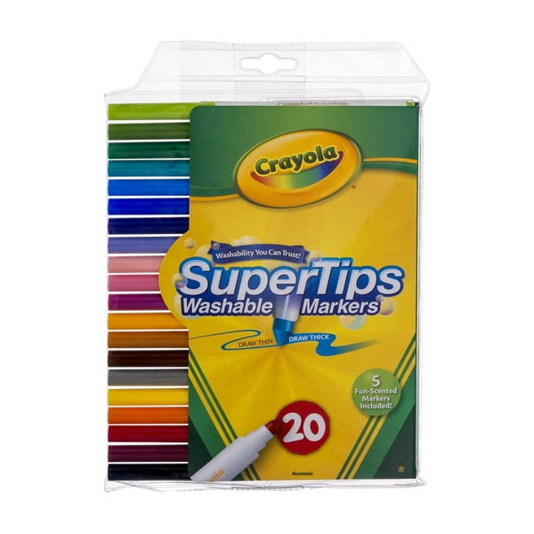 Crayola SuperTips Washable Markers - 20 CT