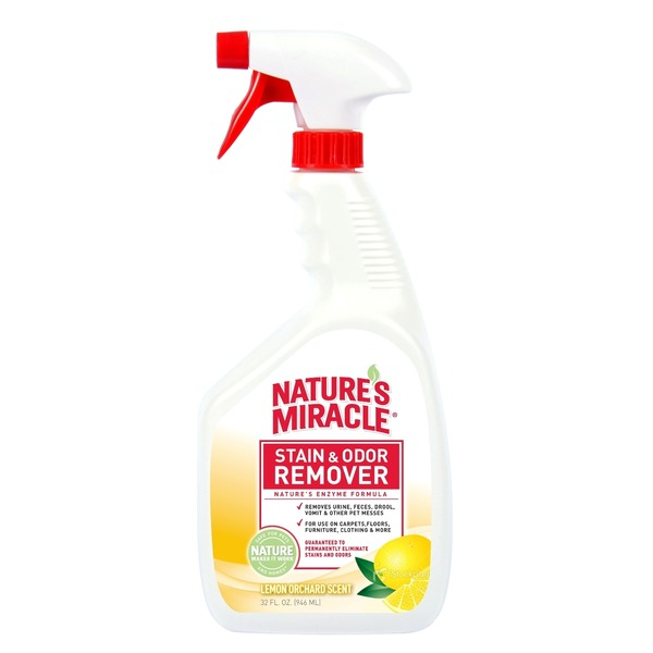 Nature's Miracle Lemon Scented Stain & Odor Remover 32 Fl. Oz.