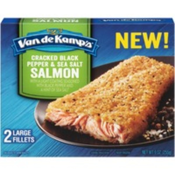 Van de Kamp's Cracked Black Pepper & Sea Salt Salmon Fillets
