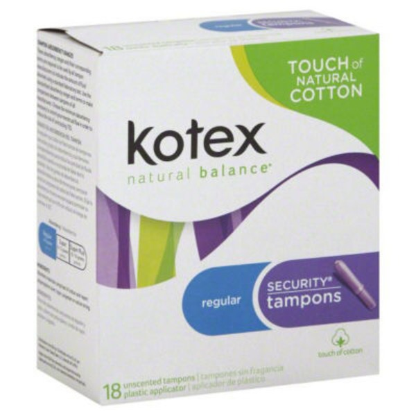 Kotex Security Regular Unscented Tampons