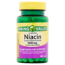 Spring Valley Niacin Capsules, 500 mg, 60 Ct