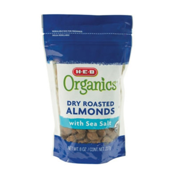 H-E-B Organics Dry Roasted Almonds With Sea Salt