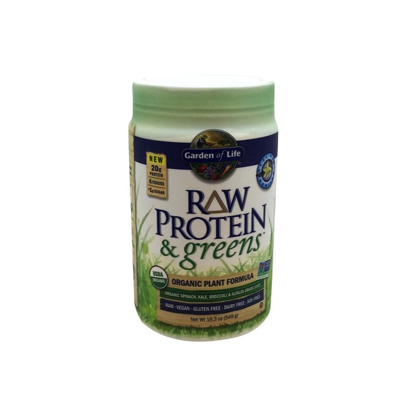 Garden of Life Raw Protein and Greens Chocolate Organic Plant Formula Powder