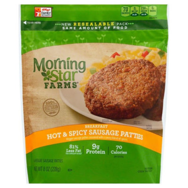 Morning Star Farms Veggie Breakfast Hot & Spicy Veggie Sausage Patties