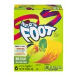 Betty Crocker Fruit Snacks, Fruit By The Foot, Variety Snack Pack, 6 Rolls, 0.75 oz Each, 0.75 OZ