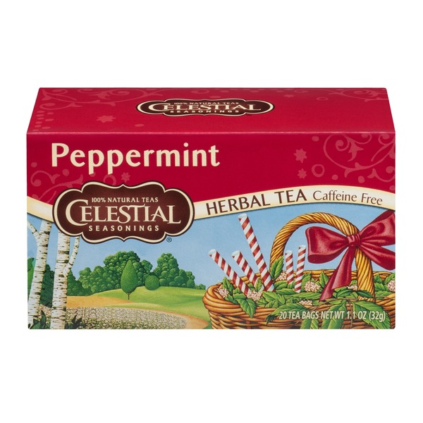 Celestial Seasonings Peppermint Herbal Tea, Caffeine Free