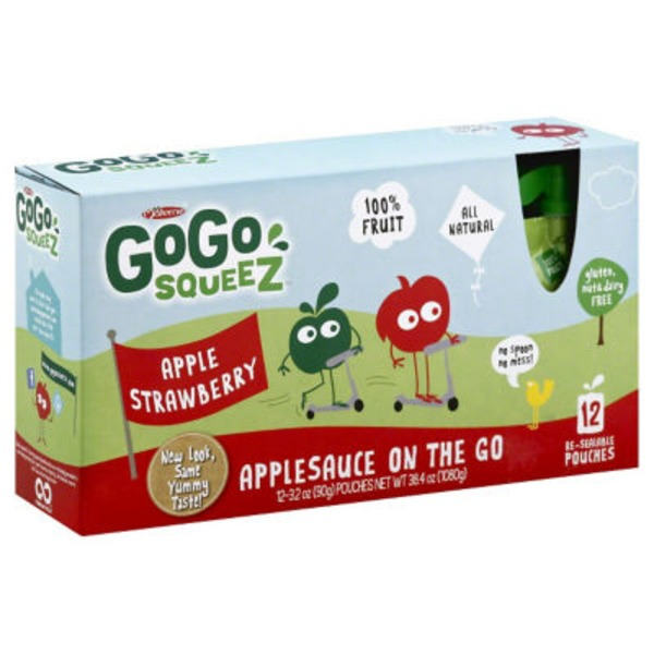 GoGo Squeez Apple Strawberry Applesauce On The Go Pouches