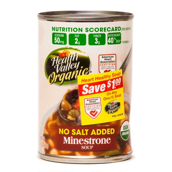 Health Valley Organic No Salt Added Minestrone Soup