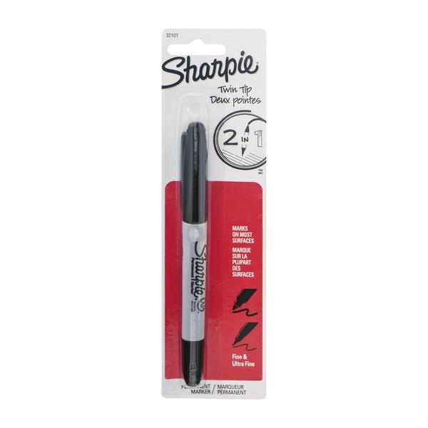Sharpie Twin Tip Fine & Ultra Fine Permanent Marker
