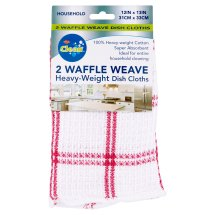 Ritz Clean Waffle Weave Heavy-Weight Dish Cloths, 2 count