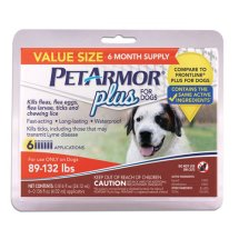 PetArmor Plus Flea and Tick Treatment for Large Dogs, 6 Monthly Doses