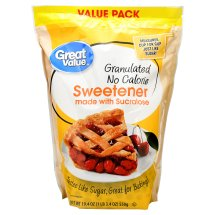Great Value Granulated Sweetener with Sucralose, No Calorie, 19.4 oz