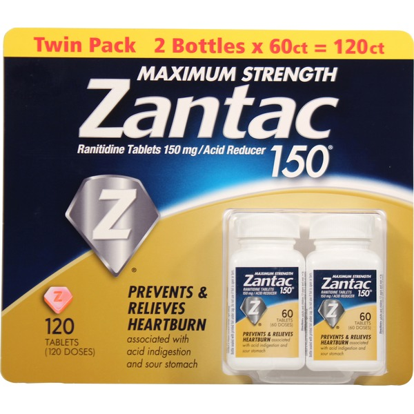 Zantac Maximum Strength150mg Ranitidine Tablets