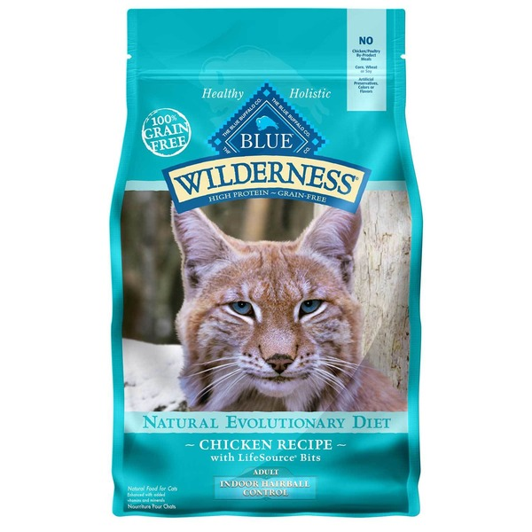 Blue Buffalo Wilderness Indoor Chicken Adult Dry Cat Food 5 Lbs.