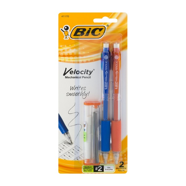 BiC Velocity #2 Medium Mechanical Pencils - 2 CT