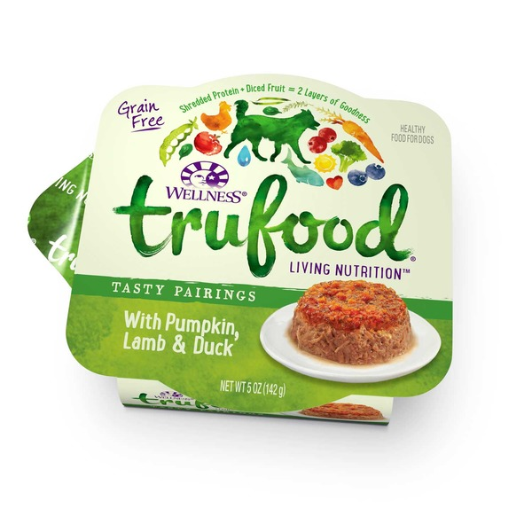 Wellness Tru Food Tasty Pairings With Pumpkin Lamb & Duck Wet Dog Food 5 Oz. Case Of 24