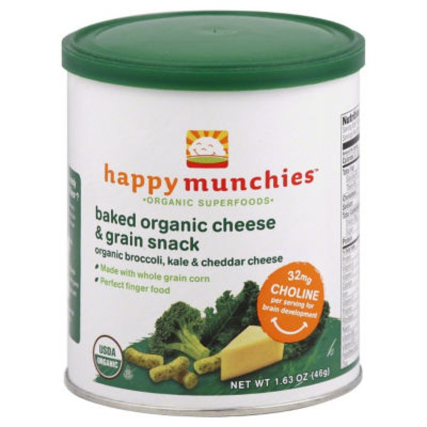 Happy Baby/Family Broccoli Kale & Cheddar Superfood Munchies