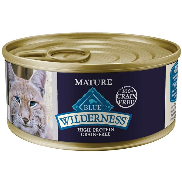 Blue Buffalo Natural Mature Chicken Wilderness Food For Cats